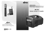 Mipro MA-101 Operating instructions