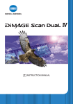 Minolta Dimage scan dual Instruction manual