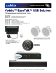 VADDIO EasyTalk User guide