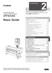 Canon imagePROGRAF iPF8300 Basic Guide No.1 User manual