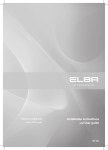 Elba HS60CSEX3 User guide
