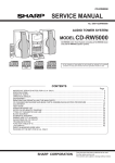 Sharp CD-RW5000 Service manual