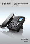 Belkin F1PP010EN-SK - Desktop Internet Phone User guide