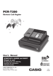 Casio PCR-T273 User`s manual