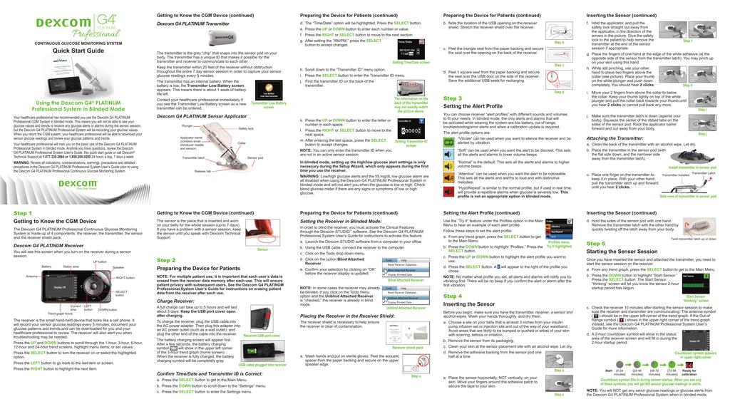 Dexcom G4 Professional Users Guide