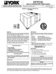 York SUNLINE PLUS D1EG Operating instructions