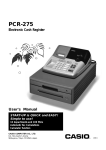 Casio PCR-208 User`s manual
