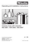 Operating and installation instructions Ceramic hobs with induction