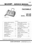 Sharp UX-40 Service manual