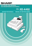 Sharp XE-A402 Instruction manual
