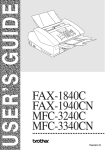 Brother FAX-1940CN User`s guide