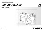 Casio QV-2000ux User`s guide