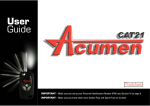 Acumen CAT21 User guide