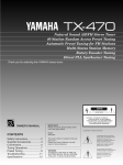 Yamaha TX-470 Owner`s manual