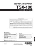 Yamaha TSX-100 Service manual