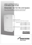 Bosch Greenstar 18i Instruction manual