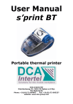 DCA Intertel s'print BT User manual