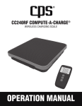 CPS CC240RF COMPUTE-A-CHARGE Specifications