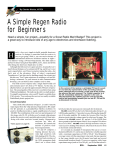 A Simple Regen Radio for Beginners