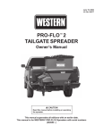Western PRO-FLO 2 Owner`s manual