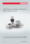 Miele Coffee System Operating instructions