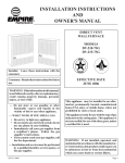 Empire Comfort Systems DV-40E-5 Owner`s manual