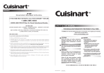 Cuisinart C560S Owner`s manual