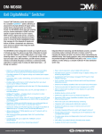 Crestron DM-MD8X8 Specifications