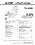 Sharp FO-1530 Service manual