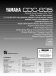Yamaha CDC-835 Owner`s manual