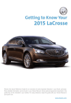 Buick 2015 LaCrosse System information