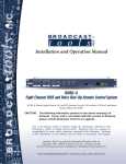 Broadcast Tools WVRC-8 Specifications