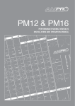 AUSTRALIAN MONITOR PM16 User guide
