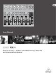 Behringer XENYX 1002 User manual
