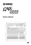 Yamaha mix EMX 2000 Owner`s manual