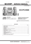 Sharp CD-PC3500 Service manual