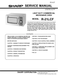 Sharp R-21LCF - Oven Microwave 1000 W Service manual
