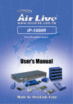 AirLive IP-1000R User`s manual
