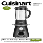 Cuisinart SBC-1000 Specifications