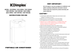 Dimplex GDC12RBA Instruction manual