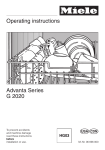 Miele ADVANTA SERIES G 2020 Operating instructions
