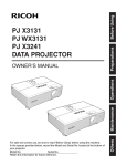 Ricoh PJ X3131 Owner`s manual