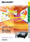 Sharp Conference Series XG-PH80X-N Operating instructions