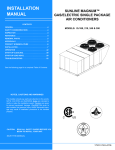York DJ300 Installation manual