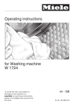 Miele W 1724 Operating instructions