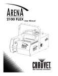 Chauvet ARENA 2100 FLEX User manual