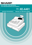Sharp XEA401 - Cash Register W/THERMAL Printer Instruction manual