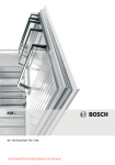 Bosch KGF Series Operating instructions