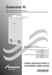 Worcester Bosch Greenstar Ri User Manual