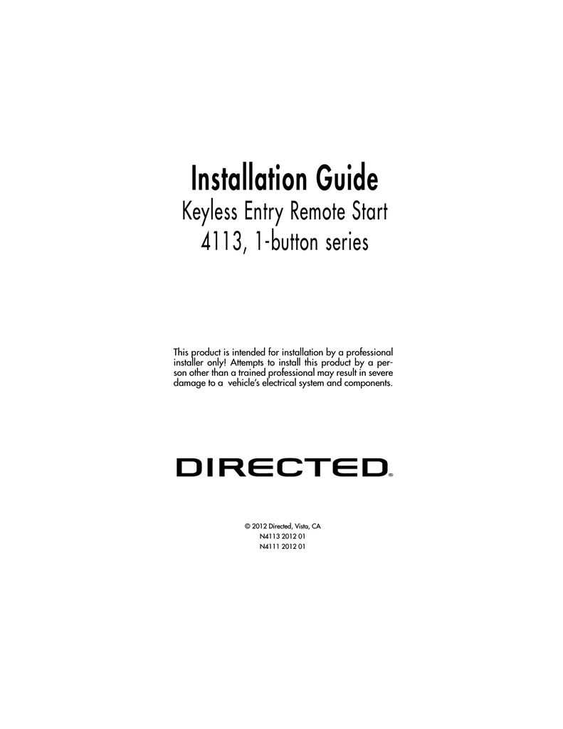 Avital 4111 Installation Guide Viper 5606v Wiring Diagram